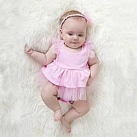 Боди-платье розовое