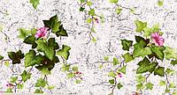 Обои влагостойкие мойка Плющ 09-05 с розовыми цветами
