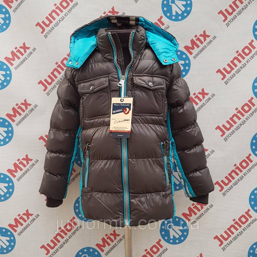 Зимняя  удленённая детская куртка для мальчиков  оптом SEAGULL