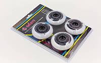 Колеса для роликов (4шт) ZELART (колесо PU, р-р 72х24мм, без подшипников)