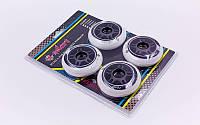 Колеса для роликов (4шт) ZELART (колесо PU, р-р 76х24мм, без подшипников)