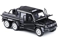 Машинка  коллекционная Mercedes G-6х6  металлическая модель в масштабе 1:32 Черный