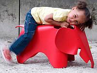 Детский стул-игрушка Elephantкрасныйполипропилен, дизайн Charles and Ray Eames