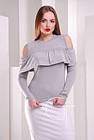 Блузка 20319 (светло серый)