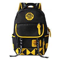 Школьный рюкзак для подростка чёрно-жёлтый, фото 1