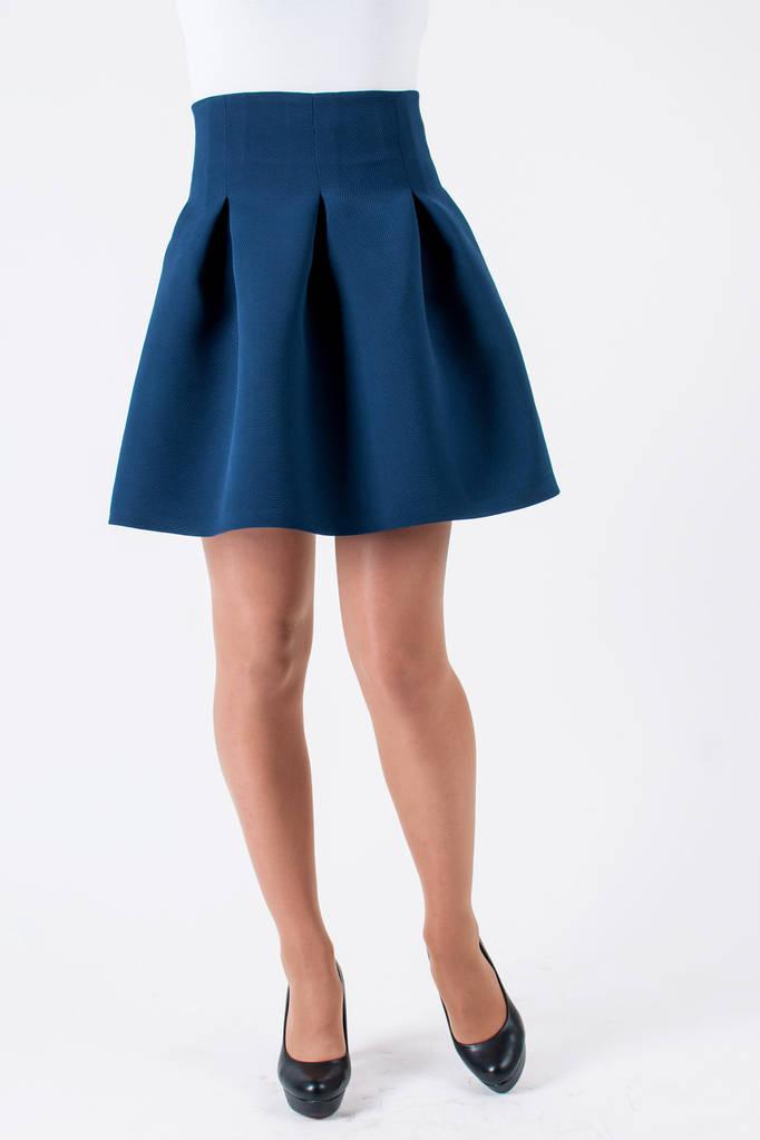 4f451680d53 Молодежная Юбка Вилена синяя  продажа