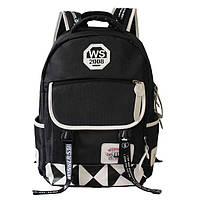 Школьный рюкзак для подростка чёрно-белый, фото 1