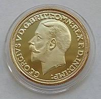 Великобритания Соверен 1913 г. копия золотой монеты и474