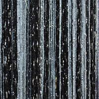 Нитяные шторы с люрексом черно-белые