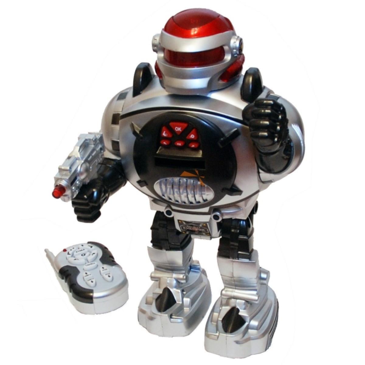 Робот на радиоуправлении стреляет дисками Космический воин