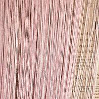 Нитяные шторы с люрексом  розовые