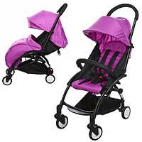 Детская прогулочная коляска YOGA M 3548-9, фиолетовый