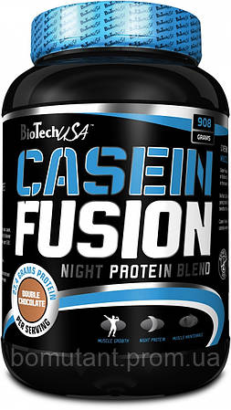Casein Fusion 908 гр двойной шоколад BioTech