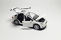 Машинка коллекционная Tesla Model X металлическая