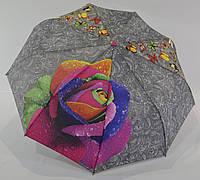 """Зонт женский полуавтомат """"роза"""" на 9 спиц из стеклопла́стика от фирмы """"IS"""""""