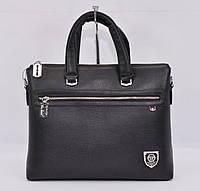 Сумка мужская для документов, портфель Philipp Plein 8908-3 черный, 39*30*9 см
