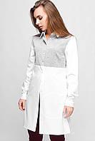 Блузка 25168 (бело-серый)