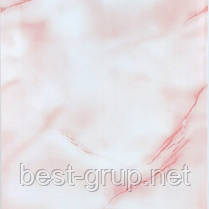 Волна розовая 250х6000х8мм. Пластиковые панели (ПВХ) Deco life (Деко лайф)