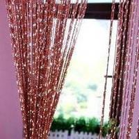 Нитяные шторы с люрексом бордовые