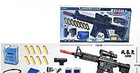 Автомат М16 2в1 гелевыми пулями и паралонновые патроны с присосками