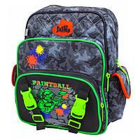 Рюкзак школьный ортопедический для мальчика 1-4 класс, Delune, черный, синий