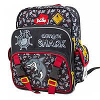 Школьный ортопедический рюкзак для мальчика 1-4 класс, Delune, черный, синий