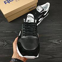 Кроссовки мужские Reebok черные топ реплика, фото 2