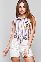 Рубашка -25281 (Розовый-серый)