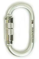 Карабин стальной овальный First Ascent Ovum Autolock Keylock FA8008