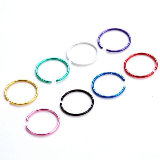 Серьги-обманки разноцветные