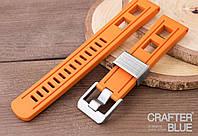 22 мм Crafter Blue оранжевый каучуковый ремешок., фото 1