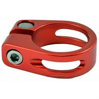 Хомут подседельный KL68(с прорезью), болт, Ф30,2mm, красный