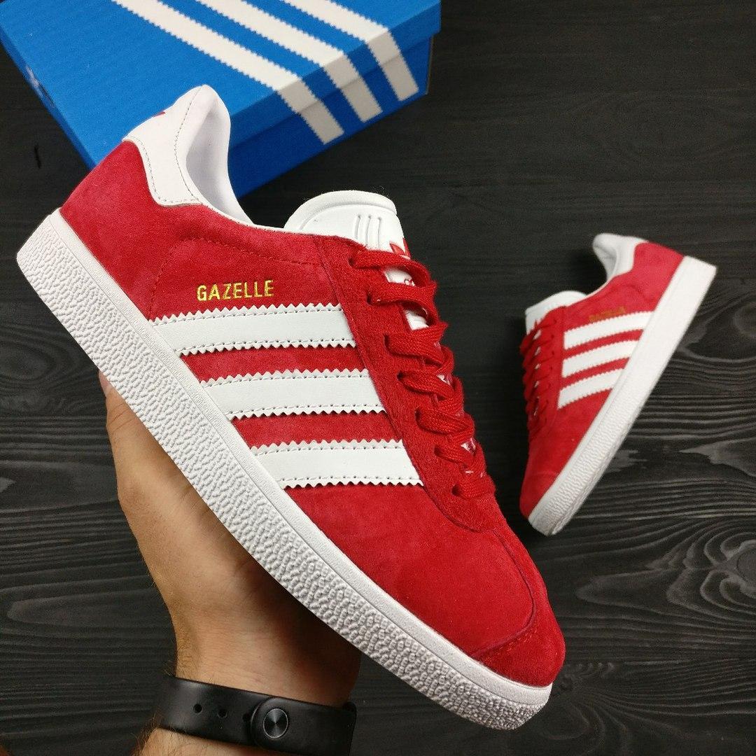 Женские кроссовки Gazelle красные топ реплика