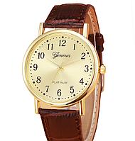 Наручные мужские часы с коричневым ремешком код 298