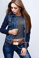Джинсовая куртка 23671 (Синий-серый)