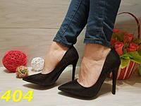 Женские классические туфли лодочки черные с голографическими блестками, р.36-41