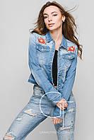 Джинсовая куртка -25357 (Голубой)