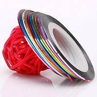 Цветная нить для декора YRE NC-01, маникюр с цветной нитью, цветная нить для ногтевого дизайна