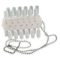Планшет для образцов дизайна ногтей YRE PO-07, на 36 цветов, на цепочке, палитра для лака, планшеты для демонстрации образцов дизайна ногтей
