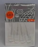 Типсы для наращивания ногтей YRE SL-5A стилеты прозрачные, 12 шт в наборе, профессиональные типсы для наращивания, типсы для ногтей