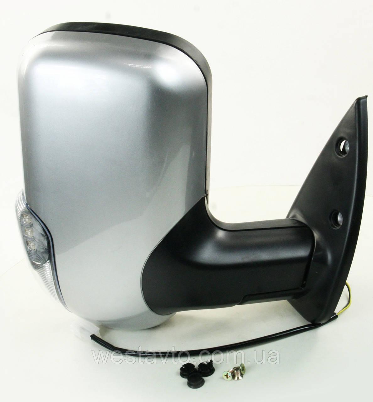 Зеркало боковое ГАЗ 3302 нов. обр. с поворот. прав. серебристое <ДК>