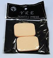 Спонж для нанесения макияжа YRE SP-01, 2 шт желтые, спонжик для нанесения макияжа, косметический спонж, спонжики для макияжа, очищающие спонжи