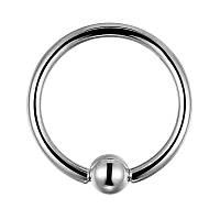 Серьга-кольцо для пирсинга металлическая