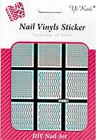 Наклейка - Трафарет для дизайна ногтей YRE NF214, Трафареты для ногтей, Трафарет для маникюра, Декор ногтей, наклейки для дизайна ногтей