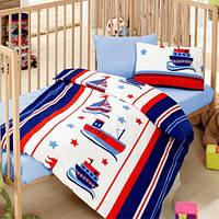Детский комплект постельного белья Кораблики