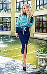Женский костюм: рубашка и джинсовая юбка-миди (3 цвета), фото 3