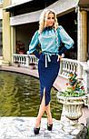 Женский костюм: рубашка и джинсовая юбка-миди (3 цвета), фото 4