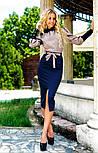 Женский костюм: рубашка и джинсовая юбка-миди (3 цвета), фото 5