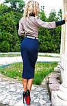 Женский костюм: рубашка и джинсовая юбка-миди (3 цвета), фото 6