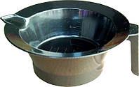 Миска для покраски волос cynia MVN-03 без резинки, металлическая, с ручкой, Миска для покраски